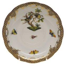 Herend Rothschild Bird Brown Tea Saucer Motif #11