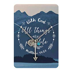 US Gifts with God All Things are Possible Arrow Pendant - 6/pk by US Gifts (Image #1)