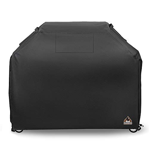- XL BBQ Barbeque Gas Grill Cover w/Buckles & Handle Straps. Fits Most Brands Like Weber, Charbroil, Q, Blackstone, Brinkmann, Kenmore, Nexgrill, Traeger - 58 x 24 x 46-600 D Waterproof,Rip Proof