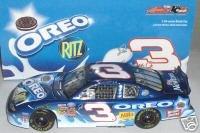 Action Racing Collectables Hood (Dale Earnhardt Jr #3 Blue 2002 Oreo Ritz Monte Carlo Daytona 300 Non Raced Winning Paint Scheme Busch Series 1/24 Scale Action Racing Collectables Hood, Trunk Opens)