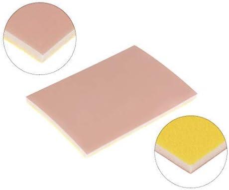 Sanding Sponge Sanding Block Pad Hook and Loop 1500 Grit 3.9inch X 2.8inch X 0.2inch Pink 2pcs