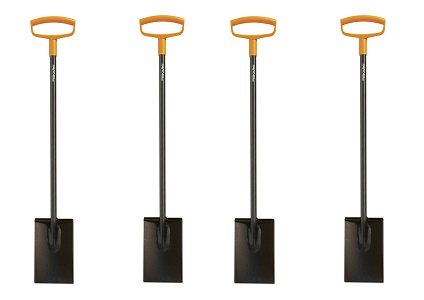 Fiskars 46 Inch Steel D-handle Square Garden Spade (4-(Pack))