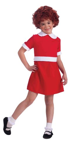 Annie Kids Costumes Wig (Forum Novelties Little Orphan Annie Child Costume, Medium)