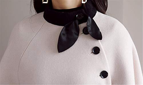Mélange Beige Poncho Laine De Avec Yogly Chaud Une Hiver Outwear Élégant Femme Ceinture Cape Automene Manteau Veste xnppqaCY8