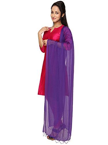Beaded Scarf Pattern - Dupatta Bazaar Indian Casual Purple Beaded Chiffon Dupatta, Scarf Shawl/Chunni