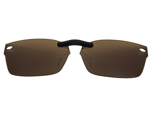 Custom Fit Polarized CLIP-ON Sunglasses For Ray-Ban RB5150 52X19 Brown (Ray Ban Clip On Sunglasses)