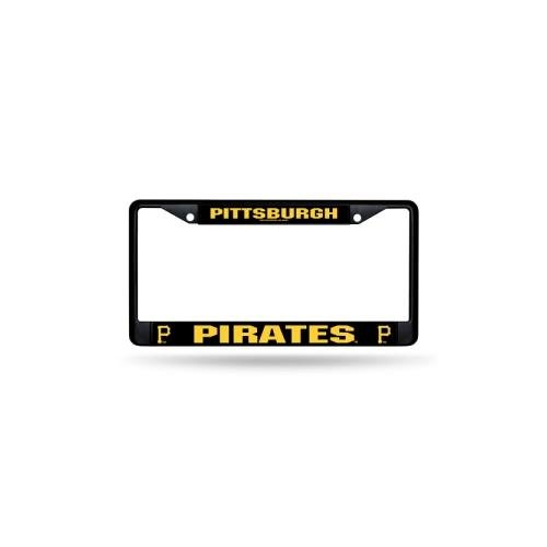 Rico Pittsburgh Pirates NFL Team Logo Auto Car Truck SUV Vehicle Universal-fit License Plate Frame - Black Metal - SINGLE (Auto Logo Nfl)