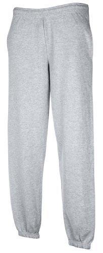 Fruit of the Loom Mens Elasticated Cuff Jog Pants/Jogging Bottoms (L) (Heather Gray)
