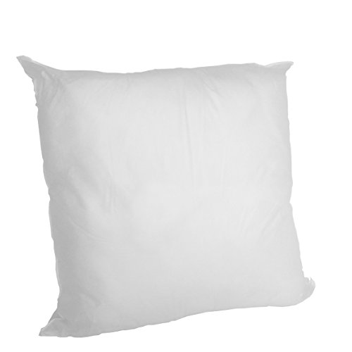Find Bargain Set of 2 - 24 X 24 Premium Hypoallergenic Stuffer Pillow Insert Sham Square Form Polyes...