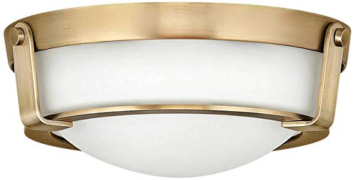 Hinkley 3223HB Hathaway Flush Mount, 2-Light 120 Total Watts, Heritage Brass ()
