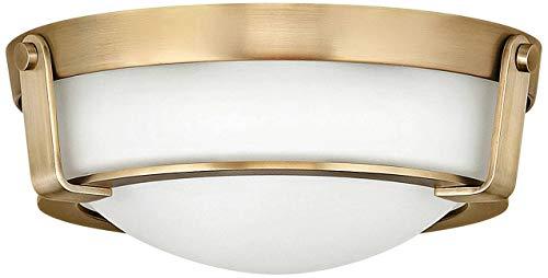 (Hinkley 3223HB Hathaway Flush Mount, 2-Light 120 Total Watts, Heritage Brass)