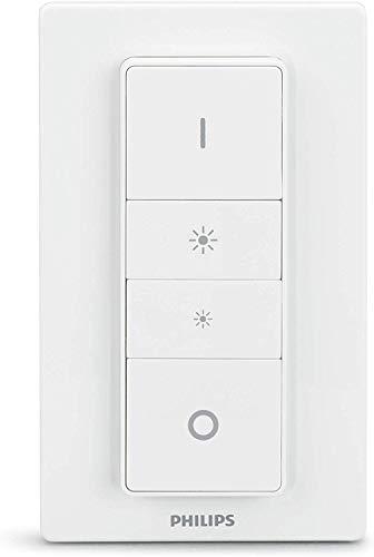 Philips Hue Dimmer Switch - Interruptor De Comando Sem Fio Requer Hue Hub, Iluminação Inteligente, Exclusivo Para Produtos Da Philips Hue, Compatível Com Amazon Alexa. Philips Hue No Voltagev Branco