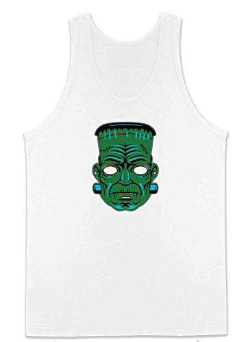Frankenstein Retro Mask Halloween Costume Horror White M Mens Tank Top]()