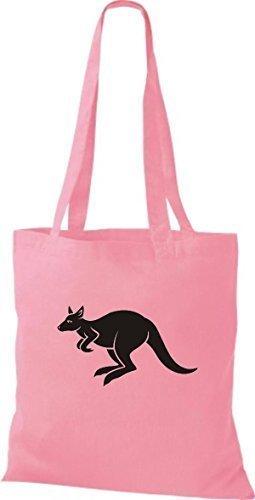 shirtstown Borsa di stoffa ANIMALE CANGURO Roo - rosa, 38 cm x 42 cm