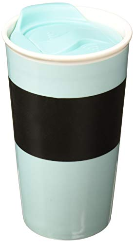- Copco 2510-4394 Ceramic Desk Mug with Chalkboard Accent, 10-Ounce, Aqua Sky Blue