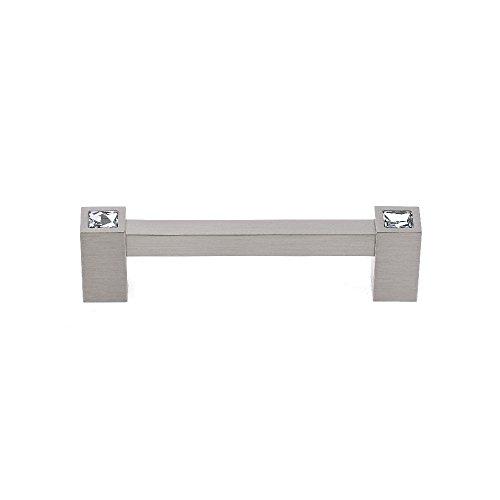 Alno C718-4-SN Contemporary Crystal Modern Pulls, Satin Nickel ()