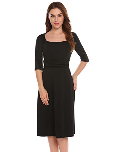 Ruched Little Black Dress - 7