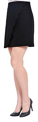 Jacob Oliver New style Womens Office Business Wrap Mini Short Pencil Skirts Black0 - Style America Edmonton