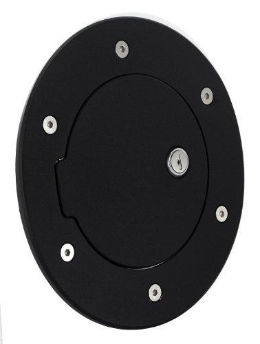 - All Sales 6097KL Black Billet Aluminum Ring and Locking Fuel Door