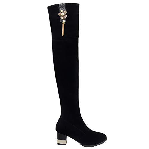 AIYOUMEI Donna Stivali Classici AIYOUMEI Classici Donna Nero Nero AIYOUMEI Stivali Stivali gpqR6