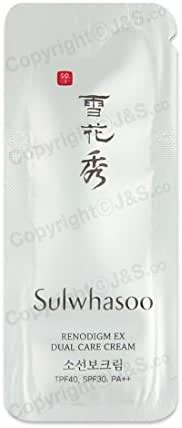 50pcs X Sulwhasoo NEW Renodigm EX Dual Care Cream TPF40, SPF 30, PA++ 1ml