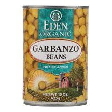 Eden Foods Organic Garbanzo Beans, 29 Ounce Can - 12 per case.