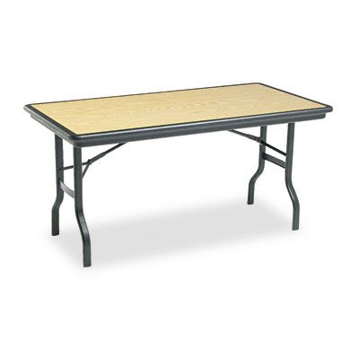 Iceberg Oak Folding Table (Iceberg 65119 60 by 30 by 29-Inch Indestruc-Tables Too Rectangular Folding Table, Light)