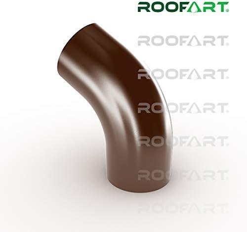 Fallrohrbogen 60/° farbig von Roofart 87 mm Rohr anthrazit 7011