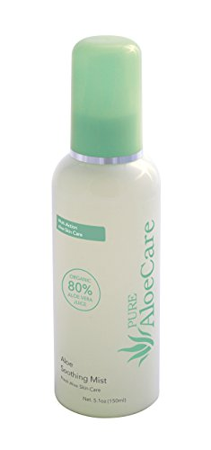 PURE AloeCare Organic Aloe Vera Soothing Mist, Relieves Discomfort, Repairs Sun Damage and Rejuvenates Your Skin, 5.1 oz (150ml)