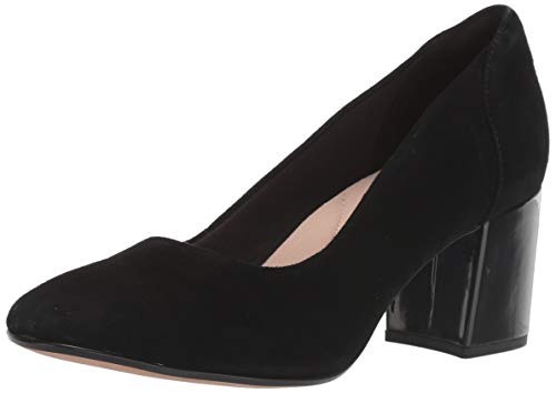 Clarks Women's Chantelle Ava Shoe, Black Suede, 6.5 M US
