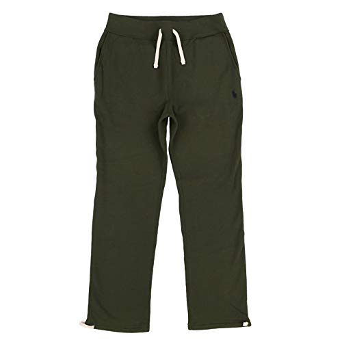 Company Olive - Polo Ralph Lauren Mens Fleece Athletic Pants (Large, Company Olive)