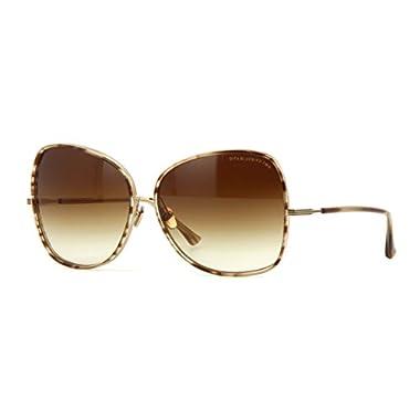 e95a23b5b6a3 Dita BLUEBIRD TWO 21011 B-BRN-GLD Sunglasses Brown Swirl-Shiny 12K Gold