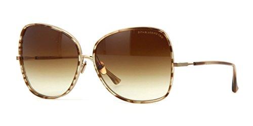 Dita BLUEBIRD TWO 21011 B-BRN-GLD Sunglasses Brown Swirl-Shiny 12K Gold (Dita Sunglasses)