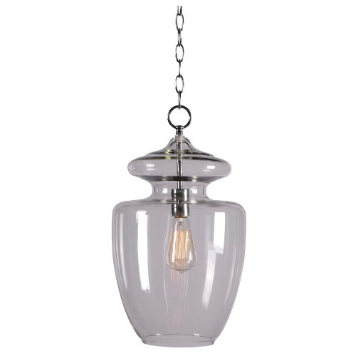 Kenroy Home Kenroy Home 93037CLR Apothecary 1 -Light Pendant (Apothecary Foyer Light)