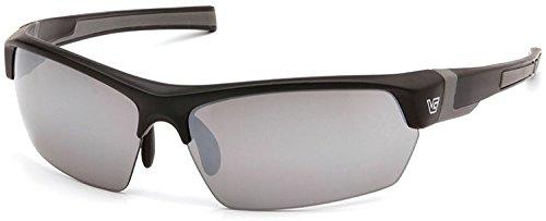 Venture Gear Tensaw Half-Frame High Performance Safety Eyewear, Black Frame, Silver Mirror Anti-Fog Lens