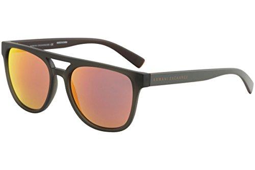 - Armani Exchange Men's 0ax4032f Non-Polarized Iridium Aviator Sunglasses, Matte Transparent Army Pump, 58.0 mm
