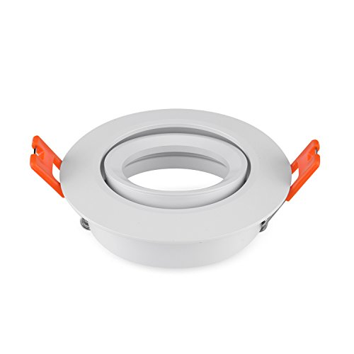 Pack of 2 Recessed Lisa White Includes GU5.3 MR16 Light Fitting without Light Socket Cut out 70mm
