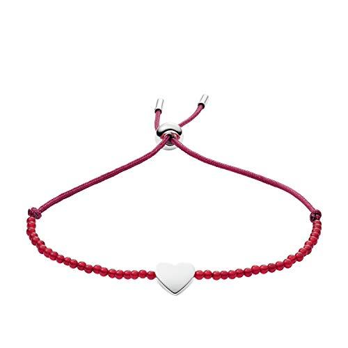Fossil Women's Carnelian Heart Bracelet, One Size -