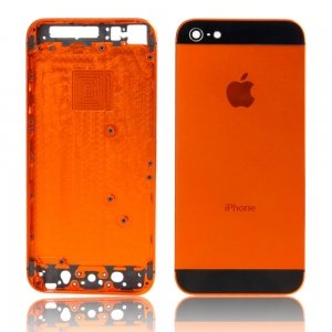 super popular 6c8b2 d32eb Back Cover Housing Case with Logo for iPhone 5 Orange +: Amazon.co ...