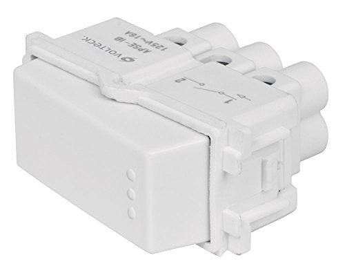 Interruptor Sencillo, Línea Italiana, Color Blanco