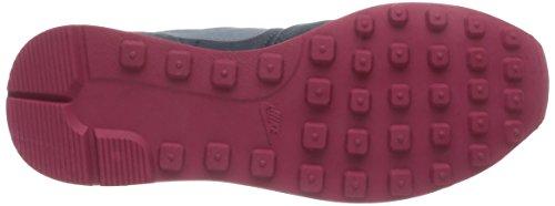 Nike Womens 629684 Scarpa Da Corsa Scamosciata Grigio Scuro Grigio / Fucsia