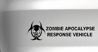 Zombie Apocalypse Response Vehicle Logo Car Vinyl Decal Funny Drift Jdm Decal, Red, 18 Inch, Die Cut Vinyl Decal For Windows, Cars, Trucks, Tool Box, Laptops, Macbook- Virtually Any Hard (Best Vehicle For A Zombie Apocalypse)
