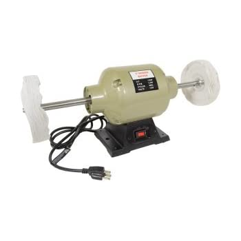 6 Quot 3450 Rpm Bench Grinder Long Shaft Buffer Polisher