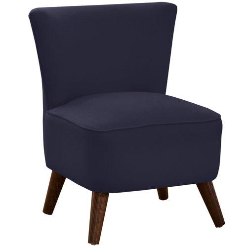 Modern Skyline Furniture Upholstered Chair in Kl.ein Midnight in Blue
