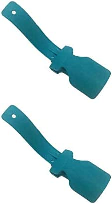 MDSM 靴頑丈なスリップエイドЛастикдляобувиオンとオフユニセックスウェアシューホーン靴べらヘルパー靴簡単リフター2PCS怠惰な靴を (色 : 青い)