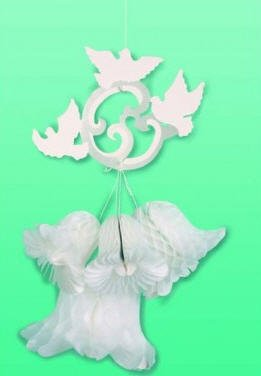 Doves Bell - Decoration Honeycomb Wedding Dove/bell