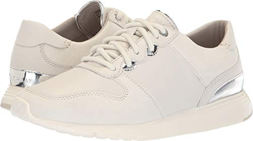 Cole Haan Women's Grand Crosscourt Wedge Sneaker Chalk Leather 9 B US B (M)