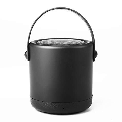 simthings SoundPot Bluetooth 4.1 Portable Mini Speaker with HD Sound, Super Bass Wireless Speaker with Built-in Mic for iPad iPhone, Android Phones All Bluetooth Devices (Black)