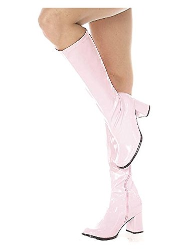 Ellie Shoes Women's Shoes 3 Inch Gogo Boots With Zipper (Pink;7)