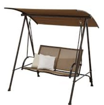 Mainstays! Two Person Swing (Brown/Tan)